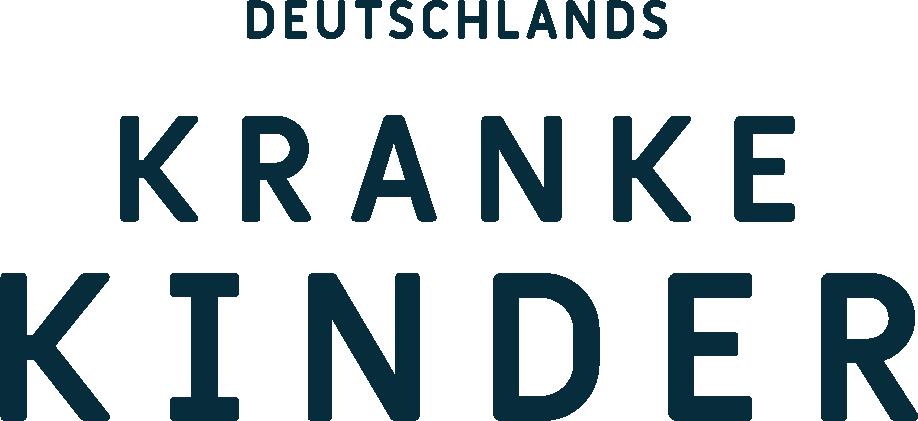 Logo Deutschlands Kranke Kinder Wortmarke blau